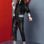 Fashion Casual Suit Female (Color:Black Size:XL)