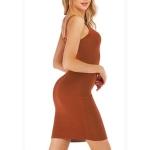 Slim Sling Sexy Hip Dress (Color:Khaki Size:M)