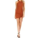 Knit Slim Sexy Hip Dress (Color:Khaki Size:L)