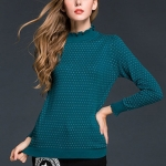 Long Sleeved Trumpet Sleeves(Color:Green Size:One Size)