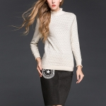 Long Sleeved Trumpet Sleeves(Color:White Size:One Size)