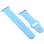 For Apple Watch Series 5 & 4 40mm / 3 & 2 & 1 38mm Silicone Watchband (Blue)