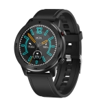 DT78 C23 1.3 inch Full Circle Full Touch Smart Sport Watch IP68 Waterproof, Support Real-time Heart Rate Monitoring / Sleep Monitoring / Bluetooth (Black)
