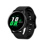 DT88 1.22 inch Full Circle Full Touch Silicone Strap Smart Sport Watch IP68 Waterproof, Support Real-time Heart Rate Monitoring / Sleep Monitoring / Bluetooth / Alarm Clock (Black)