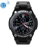 DT97 G9 1.3 inch Full Circle Full Touch GPS Smart Sport Watch IP67 Waterproof, Support Real-time Heart Rate Monitoring / Sleep Monitoring / Bluetooth (Black)
