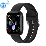 P6 1.4 inch Full Circle Full Touch Silicone Strap Smart Sport Watch IP67 Waterproof, Support Real-time Heart Rate Monitoring / Sleep Monitoring / Bluetooth / Alarm Clock (Black)