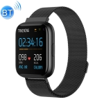 P6 1.4 inch Full Circle Full Touch Steel Strap Smart Sport Watch IP67 Waterproof, Support Real-time Heart Rate Monitoring / Sleep Monitoring / Bluetooth / Alarm Clock (Black)
