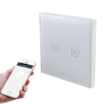 2.4G 2 Buttons Smart Light Wall Switch, Support Alexa / Google Home Voice Control, US Plug