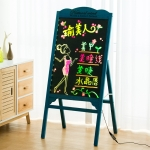 LED Billboard Display Stand Electronic Handwriting Fluorescent Board Blackboard (Blue)