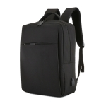 POFOKO Large-capacity Waterproof Oxford Cloth Business Casual Backpack with External USB Charging Design for 15.6 inch Laptops(Black)