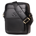 WEIXIER 8617 Business Casual PU Leather Shoulder Bag for Men, Size: 26 x 22 x 10cm (Black)