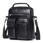 WEIXIER 8633 Crazy Horse Texture PU Leather Shoulder Bag Crossbody Bag for Men, Size: 26 x 20 x 11cm (Black)