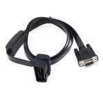 Car OBD Extended Diagnostic Tool OBD2 16PIN to DB9 Serial RS232 Cable with Switch