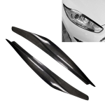 Carbon Fiber Car Mould Pressing Lamp Eyebrow Decorative Sticker for Ford Fiesta 2013-2016