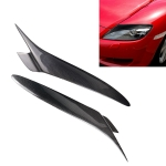 Carbon Fiber Car Mould Pressing Lamp Eyebrow Decorative Sticker for Mazda RX8 2004-2008