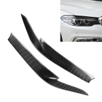 Carbon Fiber Car Mould Pressing Lamp Eyebrow Decorative Sticker for BMW 5 Series G38 2018