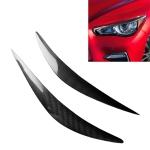 Carbon Fiber Car Mould Pressing Lamp Eyebrow Decorative Sticker for Infiniti Q50 2014-2019