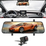 10 inch 140 Degrees Wide Angle 1296P Front Camera Starlight Night Vision + Rear Camera 170 Degrees 1080P Video Car DVR
