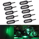 10 PCS Universal Car LED Atmosphere Lights Inner Decorative Lamp DC12V (Green Light)