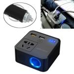 150W DC 12V-24V to AC 220V Car Multi-functional Correction Wave Power Inverter 2 USB Ports Charger Adapter (Black)