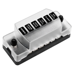 CS-978A1 FB1901 1 In 6 Out Independent Positive Negative Fuse Box without Fuse Piece for Auto Car Truck Boat
