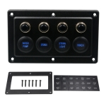 CS-976A1 12-24V 4 Way Switches Single Touch Switch Panel for Car RV Boat Yacht