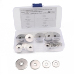 40 PCS Round Shape Stainless Steel Flat Washer Assorted Kit for Car / Boat / Home Appliance