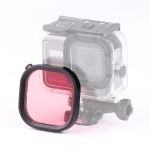 Square Housing Diving Color Lens Filter for GoPro HERO8 Black Original Waterproof Housing (Pink)