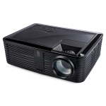 VS768 Android 4000ANSI Lumens 1980×1080 Resolution LED+LCD Technology Smart Projector, Support AV / HDMI / USB / VGA (Black)