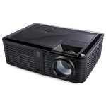 VS768 4000ANSI Lumens 1980×1080 Resolution LED+LCD Technology Smart Projector, Support AV / HDMI / USB / VGA(Black)