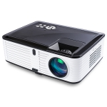 VS768 4000ANSI Lumens 1980×1080 Resolution LED+LCD Technology Smart Projector, Support AV / HDMI / USB / VGA (Black White)