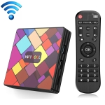 HK1COOL 4K UHD Smart TV Box with Remote Controller, Android 9.0 RK3318 Quad-core Cortex-A53, 4GB+64GB, Support WiFi & BT & AV & HDMI & RJ45 & TF Card