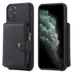 For iPhone 11 Pro Buckle Zipper Shockproof Protective Case with Holder & Card Slots & Wallet & Lanyard & Photos Frames(Black)
