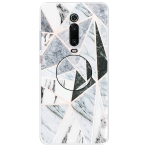For Xiaomi Redmi K20 & K20 Pro Embossed Varnished Marble TPU Protective Case with Holder(Polytriangle)