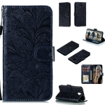 For LG K30 Lace Flower Horizontal Flip Leather Case with Holder & Card Slots & Wallet & Photo Frame(Black)
