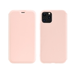 For iPhone 11 Pro Max hoco Colorful Series Liquid Silicone Protective Case with Card Slot(Pink)