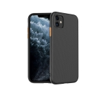 For iPhone 11 Pro hoco Lord Series Diagonal Stripes Soft TPU Protective Case(Black)