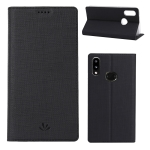 For Galaxy A10s ViLi Shockproof TPU + PU Horizontal Flip Protective Case with Card Slot & Holder(Black)