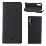 For Sony Xperia 5 ViLi Shockproof TPU + PU Horizontal Flip Protective Case with Card Slot & Holder(Black)