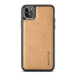 For iPhone 11 Pro Max WHATIF Kraft Paper TPU + PC Full Coverage Protective Case(Brown)