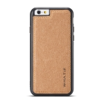 For iPhone 6 WHATIF Kraft Paper TPU + PC Full Coverage Protective Case(Brown)
