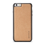 For iPhone 6 Plus WHATIF Kraft Paper TPU + PC Full Coverage Protective Case(Brown)