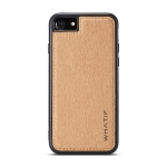 For iPhone 7 / 8 WHATIF Kraft Paper TPU + PC Full Coverage Protective Case(Brown)