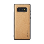 For Galaxy S10e WHATIF Kraft Paper TPU + PC Full Coverage Protective Case(Brown)
