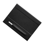 For iPad 9.7 Mutural Geya Series PC + TPU Horizontal Flip Leather Case with Holder & Pen Slot(Black)