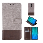 For Xiaomi Redmi Note 8 Pro MUMXA MX102 Horizontal Flip Canvas Stitching Leather Case with Holder & Card Slots & Wallet(Brown)