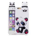For iPhone 6 Plus Shockproof Cartoon TPU Protective Case(Panda)
