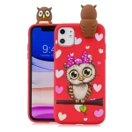 For iPhone 11 Pro Shockproof Cartoon TPU Protective Case(Red Owl)