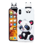 For iPhone XS Max Shockproof Cartoon TPU Protective Case(Panda)