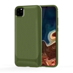 For iPhone 11 Pro Carbon Fiber Texture Shockproof TPU Protective Case(Green)
